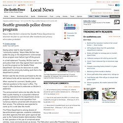 Seattle grounds police drone program