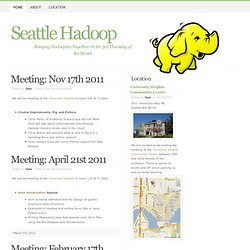 Seattle Hadoop