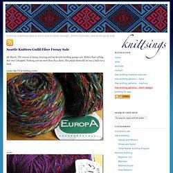 Seattle Knitters Guild Fiber Frenzy Sale