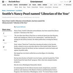 Seattle's Nancy Pearl named 'Librarian of the Year'