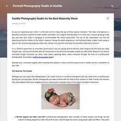 Seattle Photography Studio for the Best Maternity Shoot