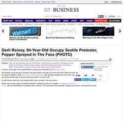 Dorli Rainey, 84-Year-Old Occupy Seattle Protester, Pepper Sprayed In The Face (PHOTO)