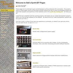 Seb's Synth-DIY Pages - Home Page