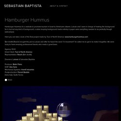 SEBASTIAN BAPTISTA — Hamburger Hummus
