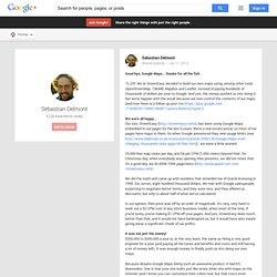 Sebastian Delmont - Google+ - Good bye, Google Maps… thanks for all the fish TL;DR: We…
