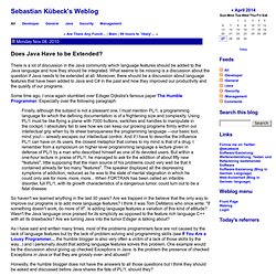 Sebastian Kübeck's Weblog