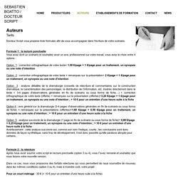 Docteur Script - Sébastien Boatto - Expertise de scenario - Script doctor