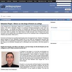 Sébastien Peigné : Retour sur des blogs d'histoire au collège
