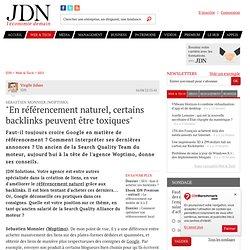 """""""En référencement naturel, certains backlinks peuvent être toxiques"""" - Journal du Net Solutions"""