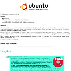 Passer de Windows à Ubuntu