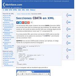 Secciones CDATA en XML