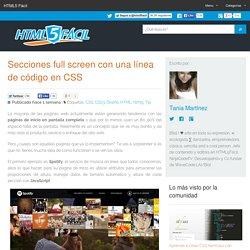 Secciones full screen con una línea de código en CSS