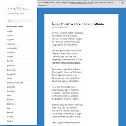 À une Fleur séchée dans un album, poème d'Alphonse de Lamartine