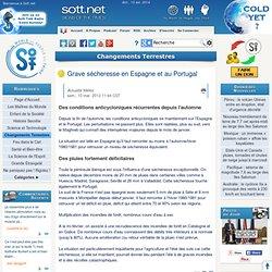 Grave sécheresse en Espagne et au Portugal