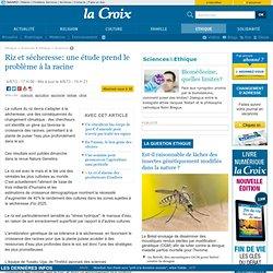 LA CROIX 04/08/13 Riz et sécheresse: une étude prend le problème à la racine