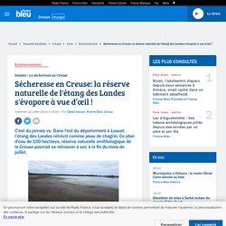 Sécheresse en Creuse: la réserve naturelle de l'étang des Landes s'évapore à vue d'œil !