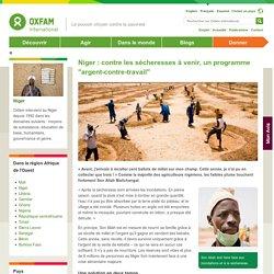 """Niger : contre les sécheresses à venir, un programme """"argent-contre-travail"""""""