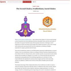 The Second Chakra, Svadhisthana, Sacral Chakra - Tarot Card