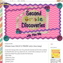 Second Grade Discoveries with Miss Bily: Whoooo loves OWLS? A FREEBIE and a Give Away!