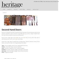 Second Hand Doors - Antique, Reclaimed, Old Doors
