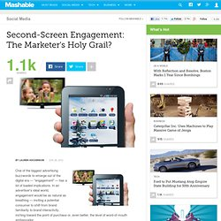 Second-Screen Engagement: The Marketer's Holy Grail?