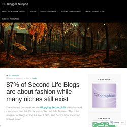 87% of Second Life Blogs are about fashion while many niches still exist