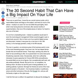 The 30 Second Habit That Can Have a Big Impact On Your Life