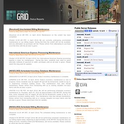 Second Life Grid Status Reports