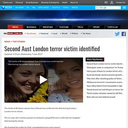Second Aust London terror victim identified