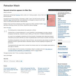 Second retraction appears for Mart Bax - Retraction Watch at Retraction Watch