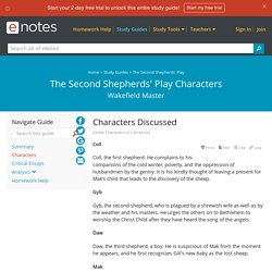 The Second Shepherds' Play Characters - eNotes.com
