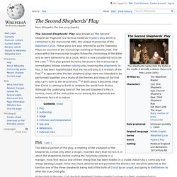 The Second Shepherds' Play - Wikipedia