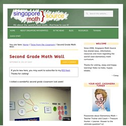 Second Grade Math Wall