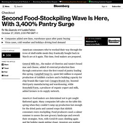Second Food-Stockpiling Wave Is Here, With 3,400% Pantry Surge