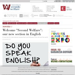 Second Welfare: our new section in English