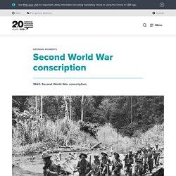 Second World War conscription
