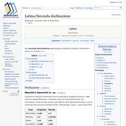 Latino-Seconda declinazione - Wikibooks, manuali e libri di testo liberi