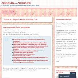 Français secondaire 4 (2e)
