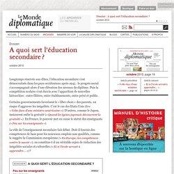 A quoi sert l'éducation secondaire ?