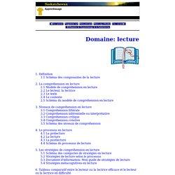 Français - Secondaire - Programmes d'études - Fransaskoises - Domaine: lecture