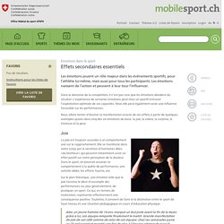 Emotions dans le sport: Effets secondaires essentiels » mobilesport.ch