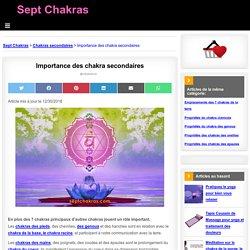 Importance des chakra secondaires sur SeptChakras.com