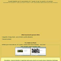 didattici per la scuola secondaria di primo grado - Index