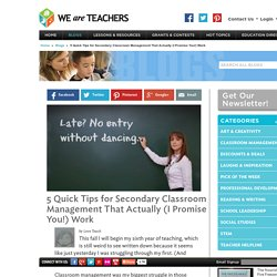 5 Quick Tips for Secondary Classroom Management That Actually (I Promise You!...
