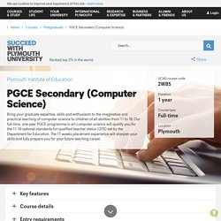 PGCE Secondary (Computer Science)