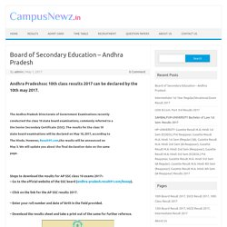 Board of Secondary Education - Andhra Pradesh Board of Secondary
