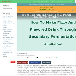 Organic Food - How To Make Fizzy And Flavored Drink Through Secondary Fermentation
