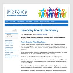 Secondary Adrenal Insufficiency - NADF