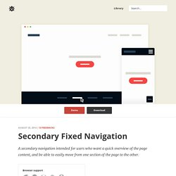 CSS & jQuery Secondary Fixed Navigation