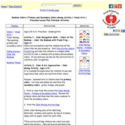 Visual Arts Preschool Lesson Plan Printable Activities